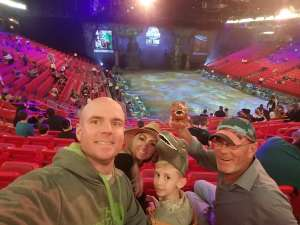 Jonathan attended Jurassic World Live Tour on Jan 9th 2020 via VetTix