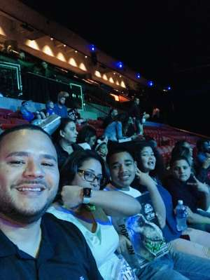 Rolando attended Jurassic World Live Tour on Jan 9th 2020 via VetTix