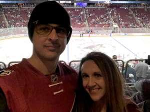 Andrew attended Arizona Coyotes vs. San Jose Sharks - NHL on Jan 14th 2020 via VetTix