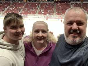 David attended Arizona Coyotes vs. San Jose Sharks - NHL on Jan 14th 2020 via VetTix