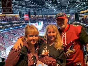 Gary and Julie Mason attended Arizona Coyotes vs. San Jose Sharks - NHL on Jan 14th 2020 via VetTix