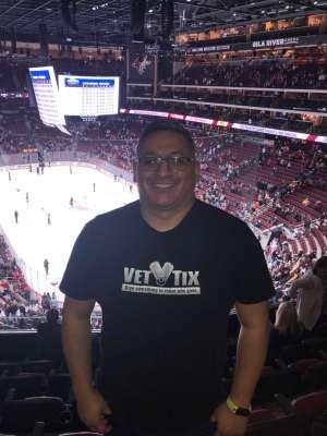 Miguel attended Arizona Coyotes vs. San Jose Sharks - NHL on Jan 14th 2020 via VetTix