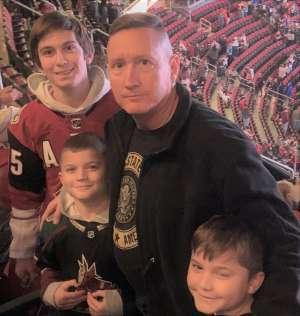 Brian C. attended Arizona Coyotes vs. San Jose Sharks - NHL on Jan 14th 2020 via VetTix