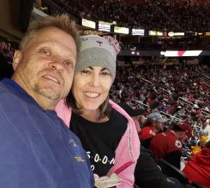 Denise attended Arizona Coyotes vs. San Jose Sharks - NHL on Jan 14th 2020 via VetTix