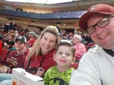 Bryan attended Arizona Coyotes vs. San Jose Sharks - NHL on Jan 14th 2020 via VetTix