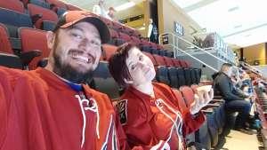 justin attended Arizona Coyotes vs. San Jose Sharks - NHL on Jan 14th 2020 via VetTix