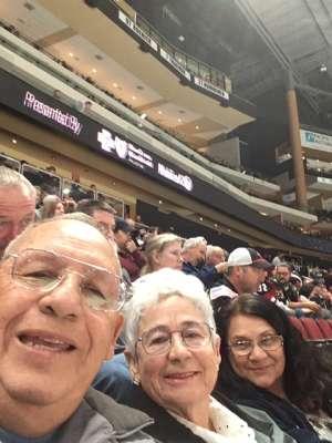 Louis attended Arizona Coyotes vs. San Jose Sharks - NHL on Jan 14th 2020 via VetTix