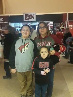 Sergio attended Arizona Coyotes vs. San Jose Sharks - NHL on Jan 14th 2020 via VetTix