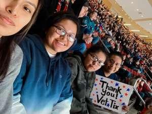 Cameron attended Arizona Coyotes vs. San Jose Sharks - NHL on Jan 14th 2020 via VetTix