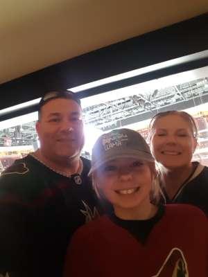 Linda attended Arizona Coyotes vs. San Jose Sharks - NHL on Jan 14th 2020 via VetTix