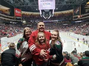 Michael attended Arizona Coyotes vs. San Jose Sharks - NHL on Jan 14th 2020 via VetTix