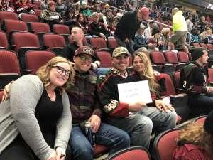 Danny attended Arizona Coyotes vs. San Jose Sharks - NHL on Jan 14th 2020 via VetTix