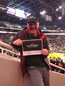 Richard and Colette  attended Phoenix Suns vs. Sacramento Kings - NBA on Jan 7th 2020 via VetTix