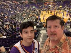 Steven attended Phoenix Suns vs. Sacramento Kings - NBA on Jan 7th 2020 via VetTix
