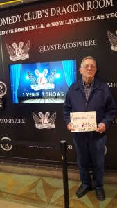 Gerald attended London Brown LIVE at the L.A. Comedy Club on Jan 10th 2020 via VetTix