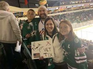 Chris attended Texas Stars vs Toronto Marlies - AHL on Jan 11th 2020 via VetTix