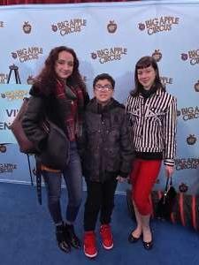 Arrenne attended Big Apple Circus - Lincoln Center on Jan 9th 2020 via VetTix