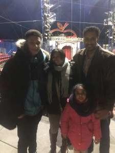 Dimas attended Big Apple Circus - Lincoln Center on Jan 9th 2020 via VetTix