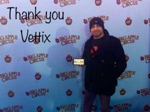 Erhan attended Big Apple Circus - Lincoln Center on Jan 9th 2020 via VetTix