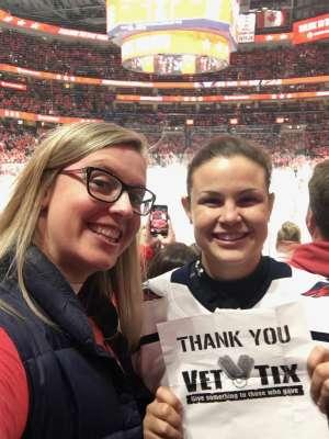 Kristen attended Washington Capitals vs. Carolina Hurricanes - NHL on Jan 13th 2020 via VetTix