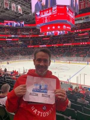 Christopher attended Washington Capitals vs. Carolina Hurricanes - NHL on Jan 13th 2020 via VetTix