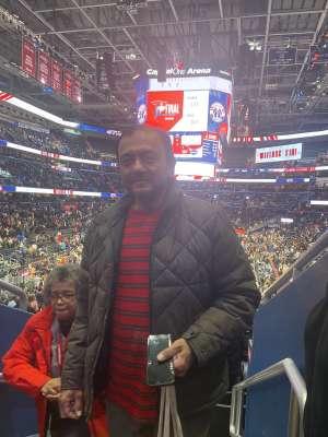 Pina attended Washington Wizards vs. Charlotte Hornets - NBA on Jan 30th 2020 via VetTix