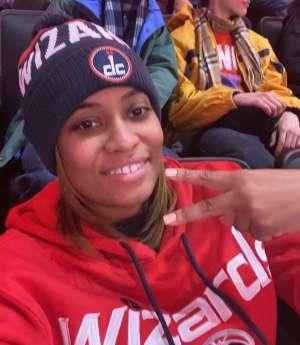 Christina attended Washington Wizards vs. Charlotte Hornets - NBA on Jan 30th 2020 via VetTix