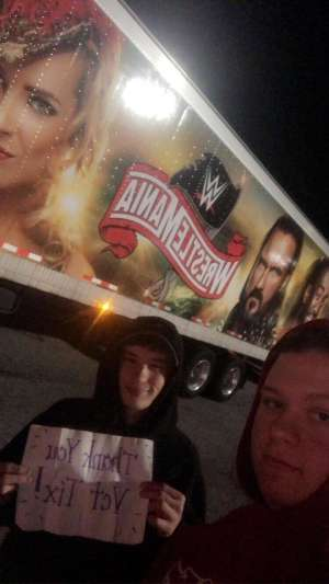 Belinda attended WWE Friday Night Smackdown on Jan 17th 2020 via VetTix