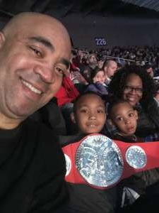 Charles attended WWE Friday Night Smackdown on Jan 17th 2020 via VetTix