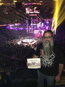 Steven attended WWE Friday Night Smackdown on Jan 17th 2020 via VetTix
