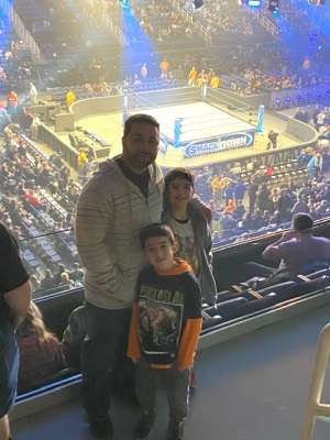 Jose attended WWE Friday Night Smackdown on Jan 17th 2020 via VetTix
