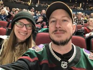 Caleb attended Arizona Coyotes vs. Pittsburgh Penguins - NHL on Jan 12th 2020 via VetTix
