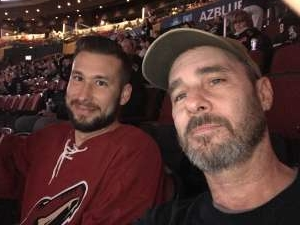 Daniel attended Arizona Coyotes vs. Pittsburgh Penguins - NHL on Jan 12th 2020 via VetTix