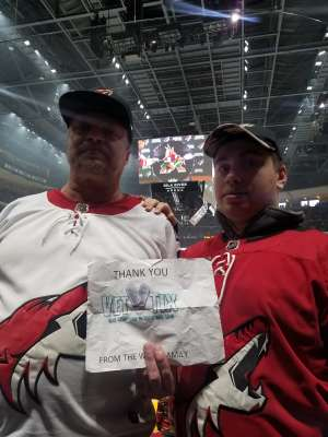 DOUGLAS attended Arizona Coyotes vs. Pittsburgh Penguins - NHL on Jan 12th 2020 via VetTix