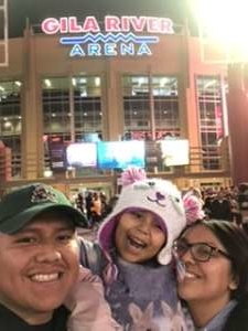 Damian attended Arizona Coyotes vs. Pittsburgh Penguins - NHL on Jan 12th 2020 via VetTix