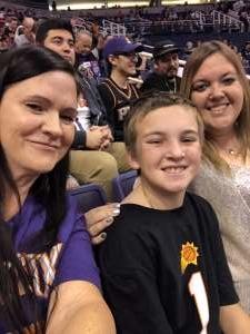 Tina attended Phoenix Suns vs. Charlotte Hornets - NBA on Jan 12th 2020 via VetTix