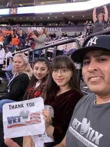 Luis Ortiz attended Phoenix Suns vs. Orlando Magic - NBA on Jan 10th 2020 via VetTix