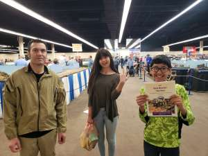 Naranjo family  attended Rocky Mountain Train Show - Tickets Good for Any One Day * See Notes on Mar 7th 2020 via VetTix