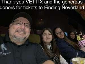 Faustino attended Finding Neverland on Jan 28th 2020 via VetTix