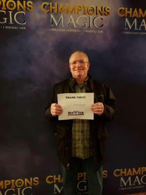 Johnny attended Champions of Magic on Jan 30th 2020 via VetTix