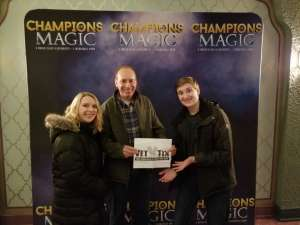 Christopher attended Champions of Magic on Jan 30th 2020 via VetTix