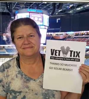 Janet attended Orlando Solar Bears vs. Jacksonville Icemen - ECHL on Jan 23rd 2020 via VetTix