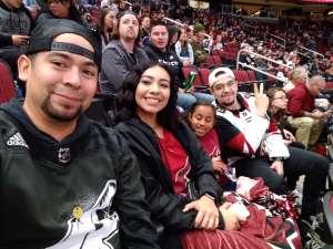 Dominic attended Arizona Coyotes vs. Los Angeles Kings - NHL on Jan 30th 2020 via VetTix