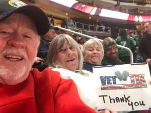 Terry attended Arizona Coyotes vs. Carolina Hurricanes - NHL on Feb 6th 2020 via VetTix