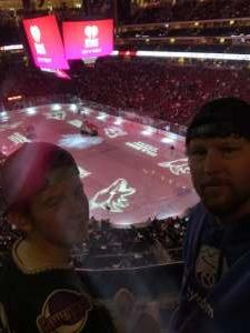 Chris attended Arizona Coyotes vs. Carolina Hurricanes - NHL on Feb 6th 2020 via VetTix