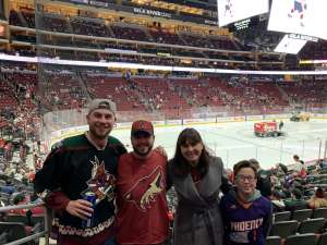 Chelsea attended Arizona Coyotes vs. Carolina Hurricanes - NHL on Feb 6th 2020 via VetTix