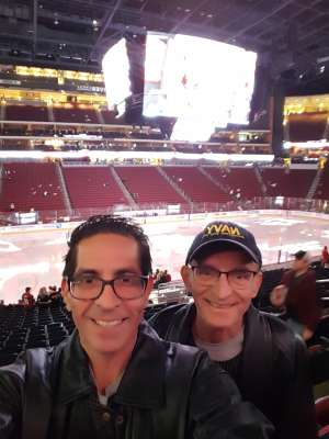 Larry attended Arizona Coyotes vs. Carolina Hurricanes - NHL on Feb 6th 2020 via VetTix