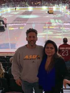 Janice attended Arizona Coyotes vs. Carolina Hurricanes - NHL on Feb 6th 2020 via VetTix