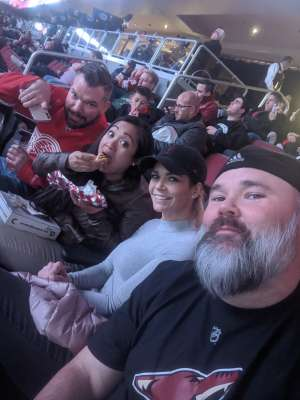 CJ attended Arizona Coyotes vs. Carolina Hurricanes - NHL on Feb 6th 2020 via VetTix