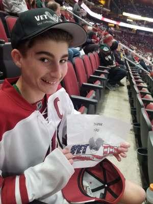 Gary attended Arizona Coyotes vs. Carolina Hurricanes - NHL on Feb 6th 2020 via VetTix